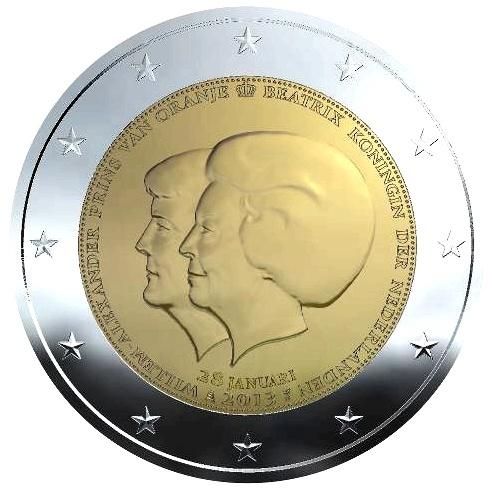 2 Euro Niederlande 2013 1 Briefmarken Labus