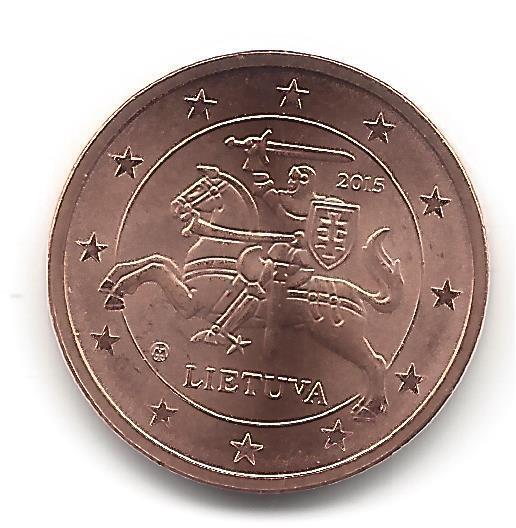 Litauen 2 Cent Kursmünze 2015 Briefmarken Labus