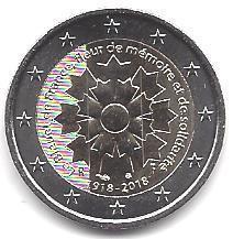 2 Euro Frankreich 2018 1 Kornblume Briefmarken Labus