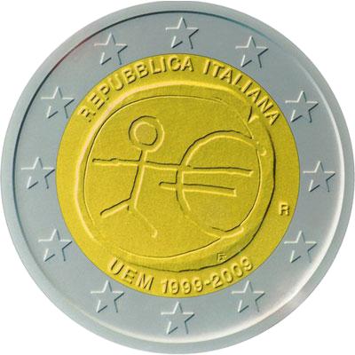 2 Euro Italien 2009 Briefmarken Labus