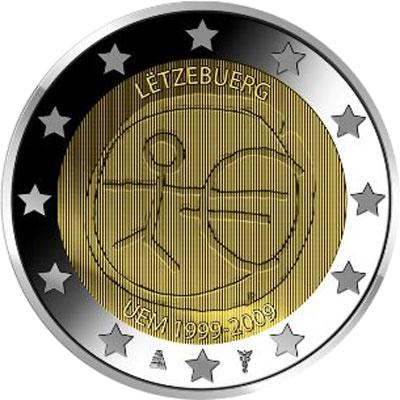 2 euro luxemburg 2009 briefmarken labus. Black Bedroom Furniture Sets. Home Design Ideas