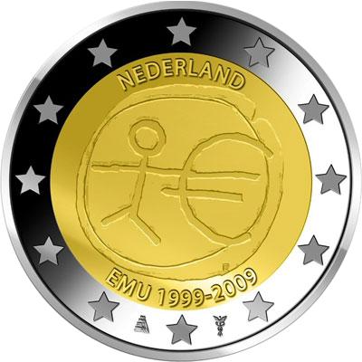 2 Euro Niederlande 2009 Briefmarken Labus