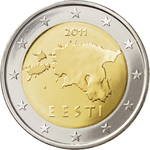 Estonia 2 euro coin 2011