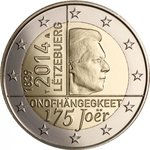 2 Euro Luxembourg 2014-1 Independence