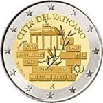 2 euro Vatican 2014 fall of the Berlin wall
