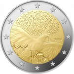 2 Euro France 2015-1 peace in Europe