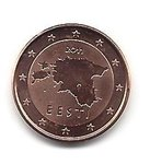 Estonia 1 cent coin 2011