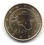 Estonia 10 cent coin 2011