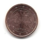 Lithuania 1 Cent coin 2015