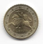 Lithuania 50 cent coin 2015