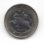 Lithuania 1 euro coin 2015