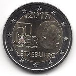 2 Euro Luxembourg 2017/1 military service